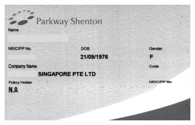 Parkway Shenton Card