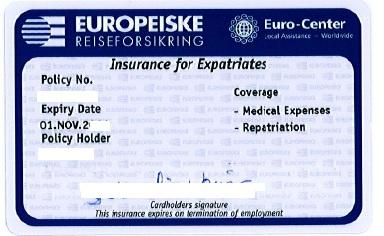 Euro-Center Insurance Card